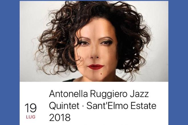 Antonella Ruggero in Jazz Quintet Concert. Foto da Facebook