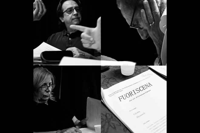 Fuoriscena di Fortunato Calvino con Gino Rivieccio