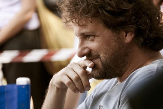 Leonardo Pieraccioni sul set di Finalmente la felicità (2011). Foto di Leonardo Baldini.
