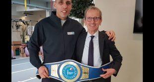 Vigan Mustafà ed il dottor Maurizio Bertoni per il Parkinson