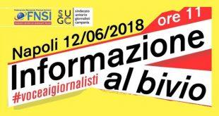 Voce ai Giornalisti. Manifestazione a Napoli