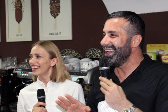 Isabella Potì e Luca Tommassini al Magnum Pleasure Store di Napoli