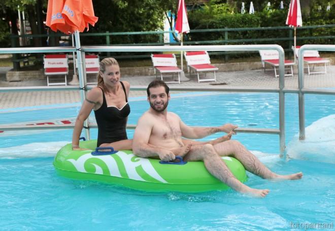 Michelle Hunziker e Tomaso Trussardi. Foto da Ufficio Stampa