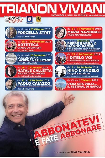 Teatro Trianon Viviani, stagione teatrale 2018-19