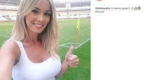 Diletta Leotta annuncia l'avvio della serie A. Foto da Instagram.