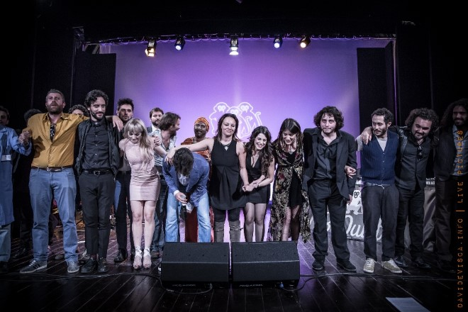 Il cast di Be Quiet Talent Show. Foto di Davide Visca