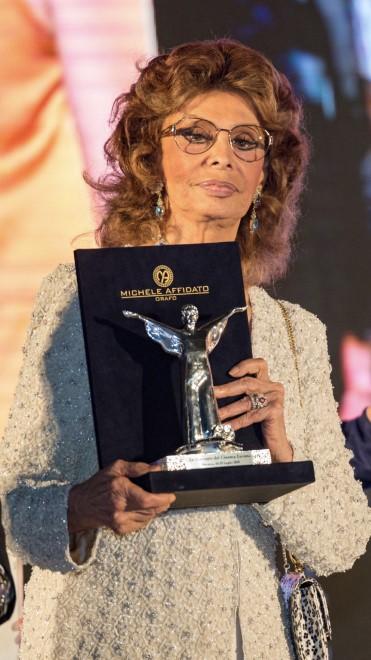 Sophia Loren a Maratea. Foto di Demia Gioia.