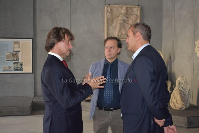 Alberto Angela con il sindaco Luigi De Magistris al MANN