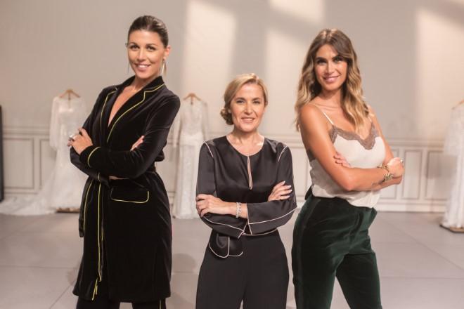 Alessandra Grillo, Raffaella Fusetti e Melissa Satta per Il padre della sposa. Foto da Ufficio Stampa
