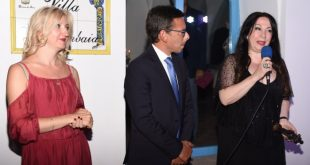 Elena Zelenskaya tra i premiati del Premio Brodskij a Ischia. Foto di Anna Lisa
