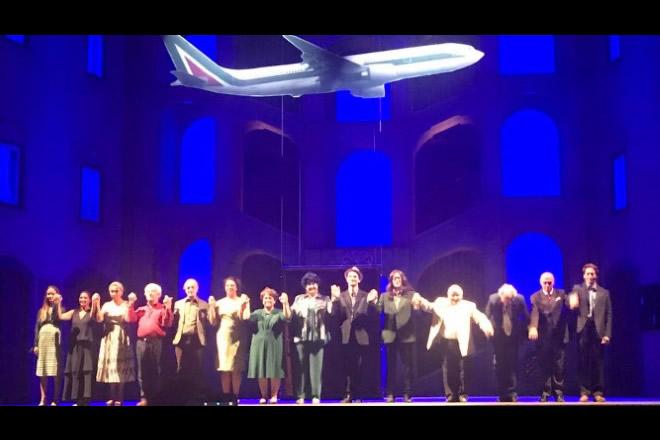 Il cast al completo di Così parlò Bellavista diretto da Geppy Gleijeses
