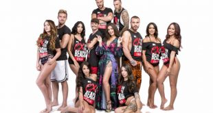 Il cast di Ex on the beach Italia con Elettra Lmaborghini. Foto di Francesco Margutti