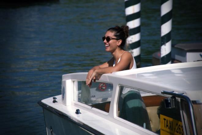 L'arrivo di Cristiana Dell'Anna a Venezia75. Foto di Michele Pelosio