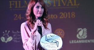 Milena Miconi al Villammare Film Festival 2018. Foto di Roberto Jandoli