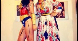 Natali Ferrary e la modella russa Elizaveta-Wonder Woman