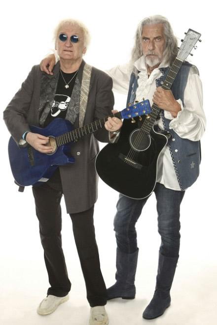 Shapiro Vandelli. Shel Shapiro e Maurizio Vandelli. Foto di Oliviero Toscani.