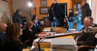 Sul set di Vincenzo. Foto da Ufficio Stampa