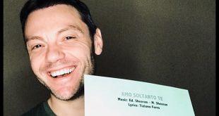 Tiziano Ferro ed il post su Facebook con il brano scritto insieme ad Ed Sheeran. Foto dal Web