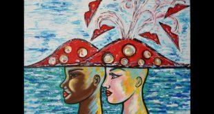Vesuvinum. Immagine dell'opera Un Vesuvio per cappello dell'artista Nadia Basso.