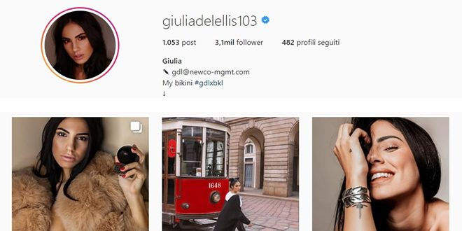 Giulia De Lellis vola come influencer
