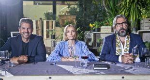 I protagonisti de Il ristorante degli chef Andrea Berton, Isabella Potì e Philippe Léveillé. Foto di Leonardo Puccini