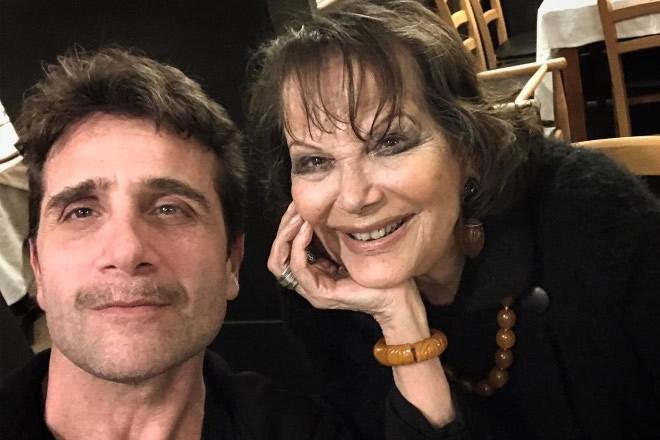 Ivan Castiglione con Claudia Cardinale. Foto da Facebook