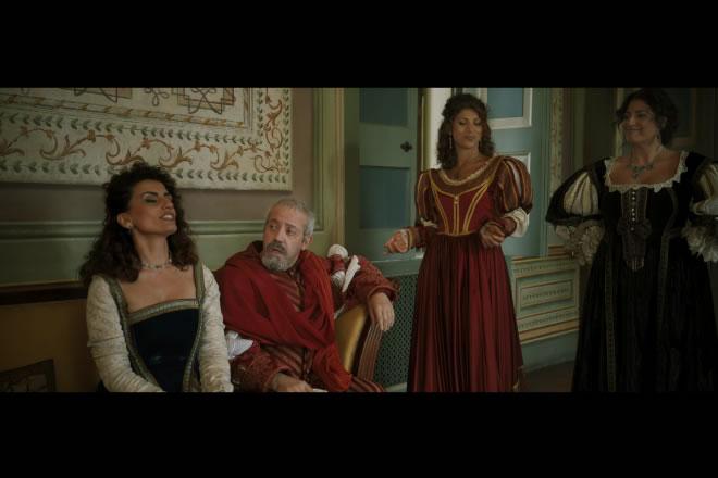 Una scena del corto grottesco su Fabrizio Carafa, Tu mi uccidi, o crudel.