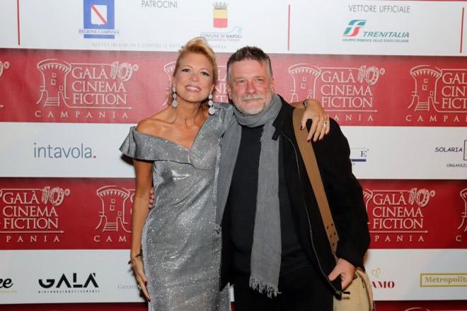 Valeria Della Rocca organizzatrice del Gala e il resista Alessandro D'Alatri