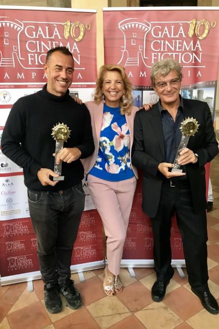 Valeria della Rocca con Matteo Garrone e Mario Martone