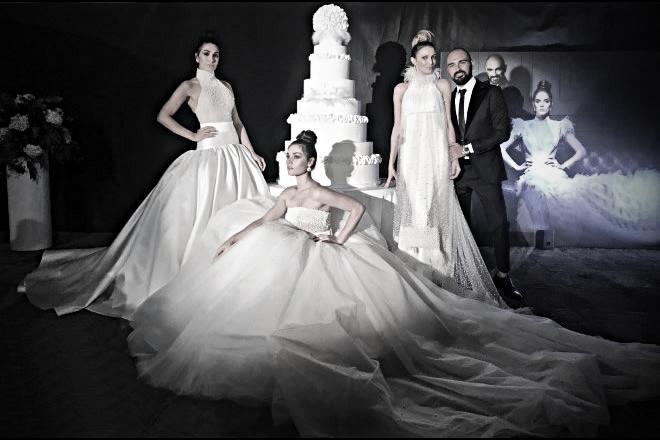 Salvatore Pappacena con le sue modelle. Foto di Francesco Russo