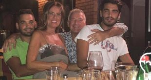 Stefano Sala con la famiglia. Foto fornite alla giornalista