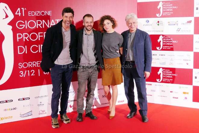 Alessandro Gassmann, Jasmine Trinca, Fabrizio Bentivoglio e Simone Godano