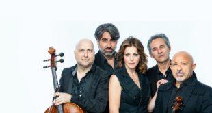 Claudia Gerini e Soli String Quartet. Foto da Ufficio Stampa
