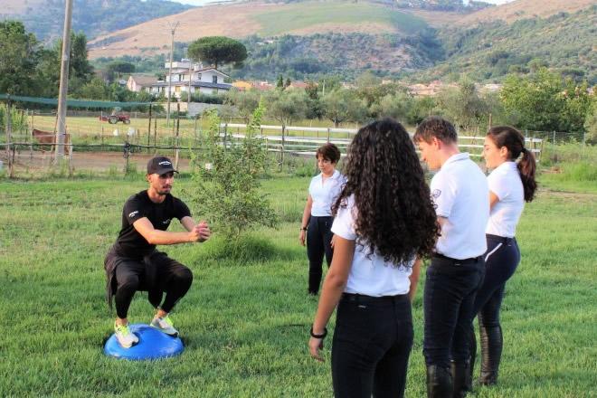 Claudio Belardo durante una fase dell'allenamento. Foto fornite dall'atleta