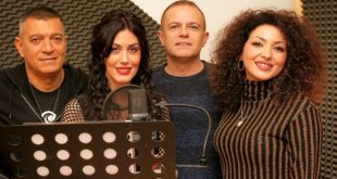 Il team vocale di La tua zampa. Da sx Maurizio Capone, Francesca Fariello, Lello Savonardo e Valeriè Vitiello