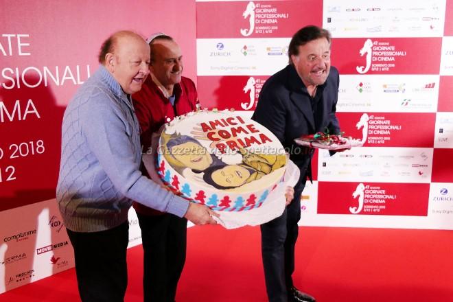 La torta di Antonio Cafiero per Boldi e De Sica