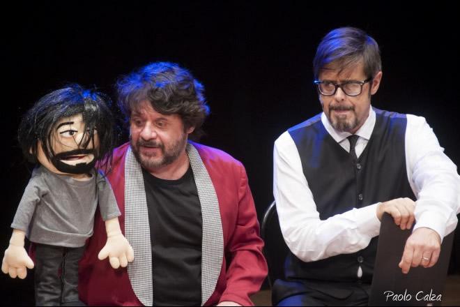 Lillo e Greg in una scena di Gagman. Foto di Paolo Calza