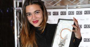Pina Turco riceve il Premio I Primi per il cinema. Foto da Ufficio Stampa