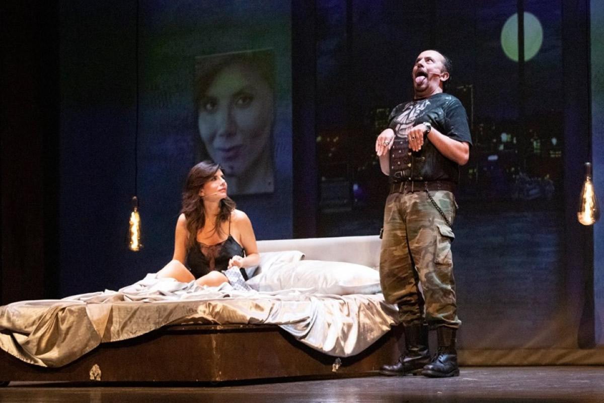 Giovanna Rei in scena con Maurizio Casagrande