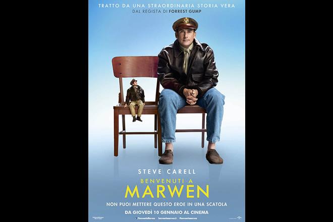 Locandina di Steve Carell in Benvenuti a Marwen