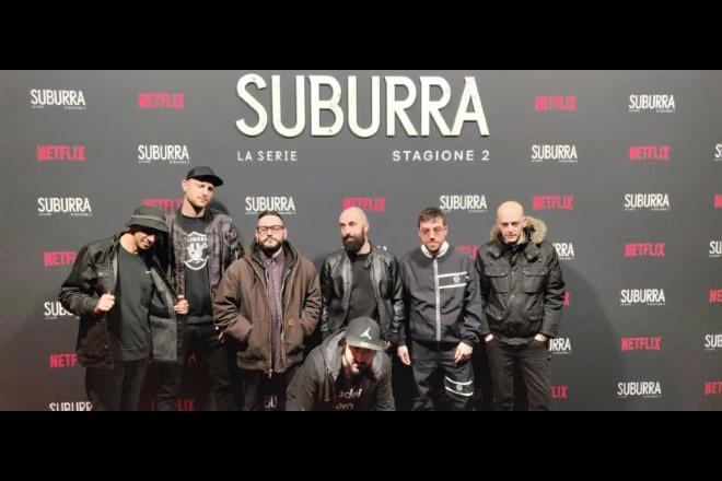 Amir Issaa, Hube, Nicco, Piotta, Lucci, Coez, DJ Ceffo. La grande Onda per Suburra 2