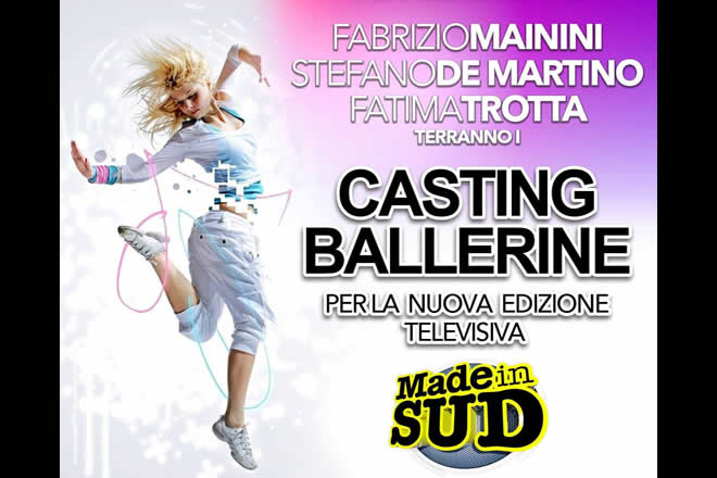 Casting Ballerine Made in Sud