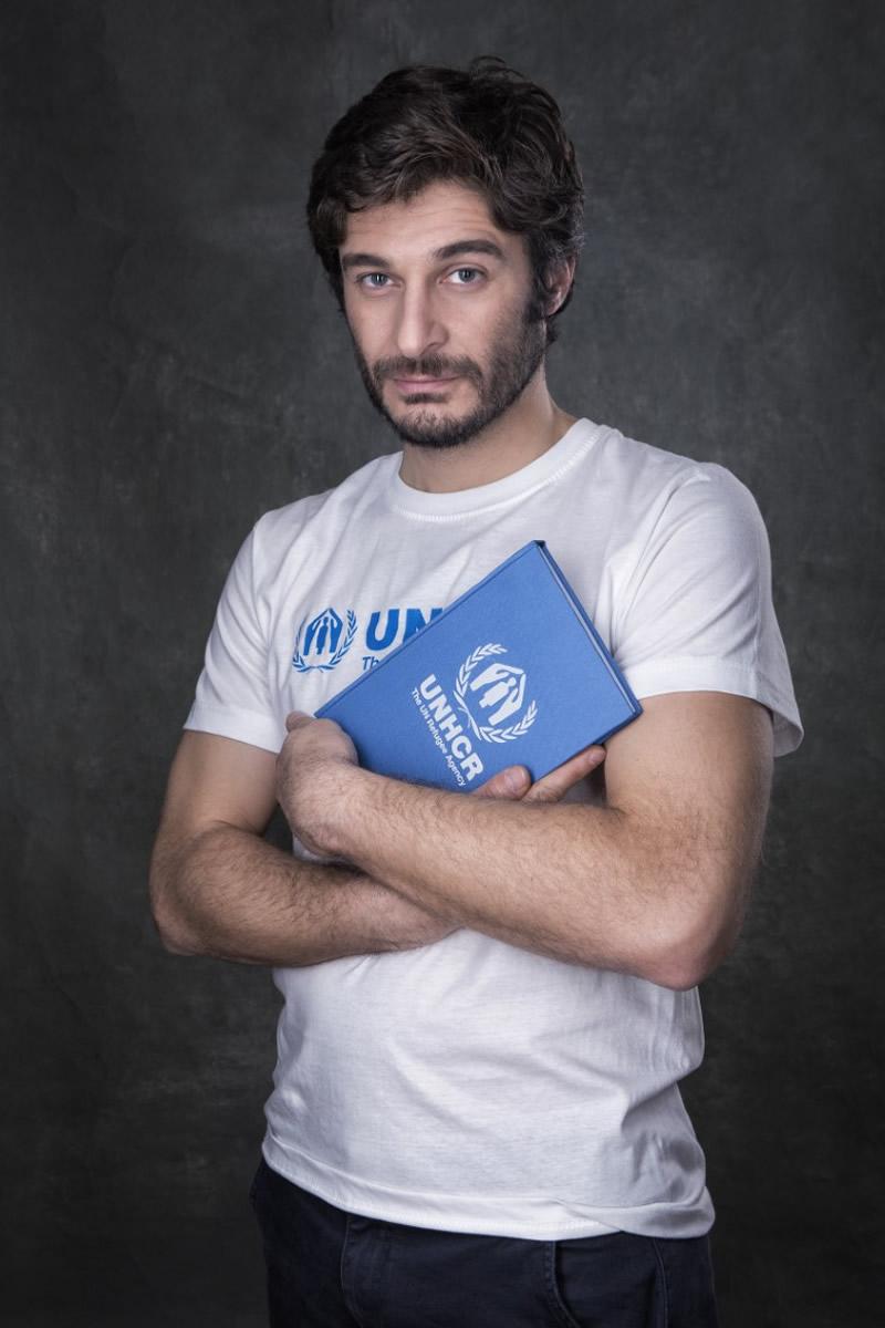 Lino Guanciale per UNHCR. Foto di Riccardo Ghilardi