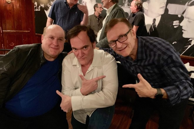 Armand Mastroianni in foto con Quentin Tarantino. Foto da Facebook