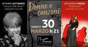 Donne e canzoni al salotto Francini