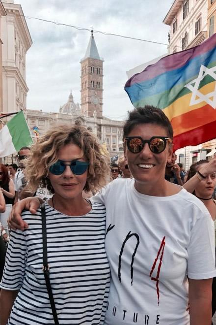 Eva Grimaldi ed Imma Battaglia. Foto da Ufficio Stampa