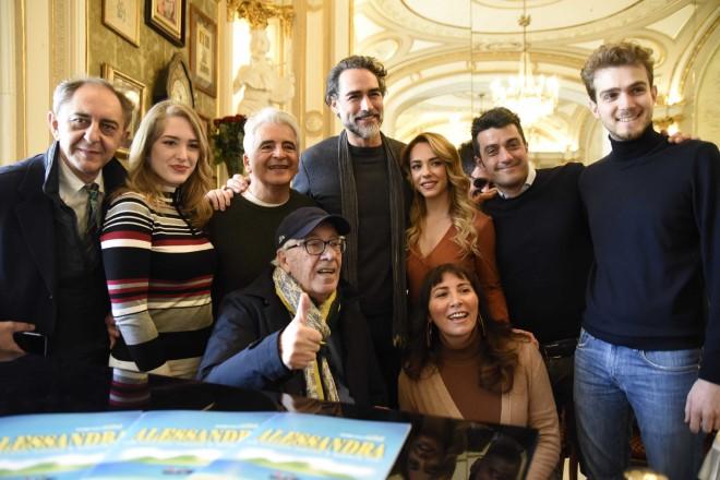 Il cast di Alessandra a Napoli. Foto di Antonio Carrano