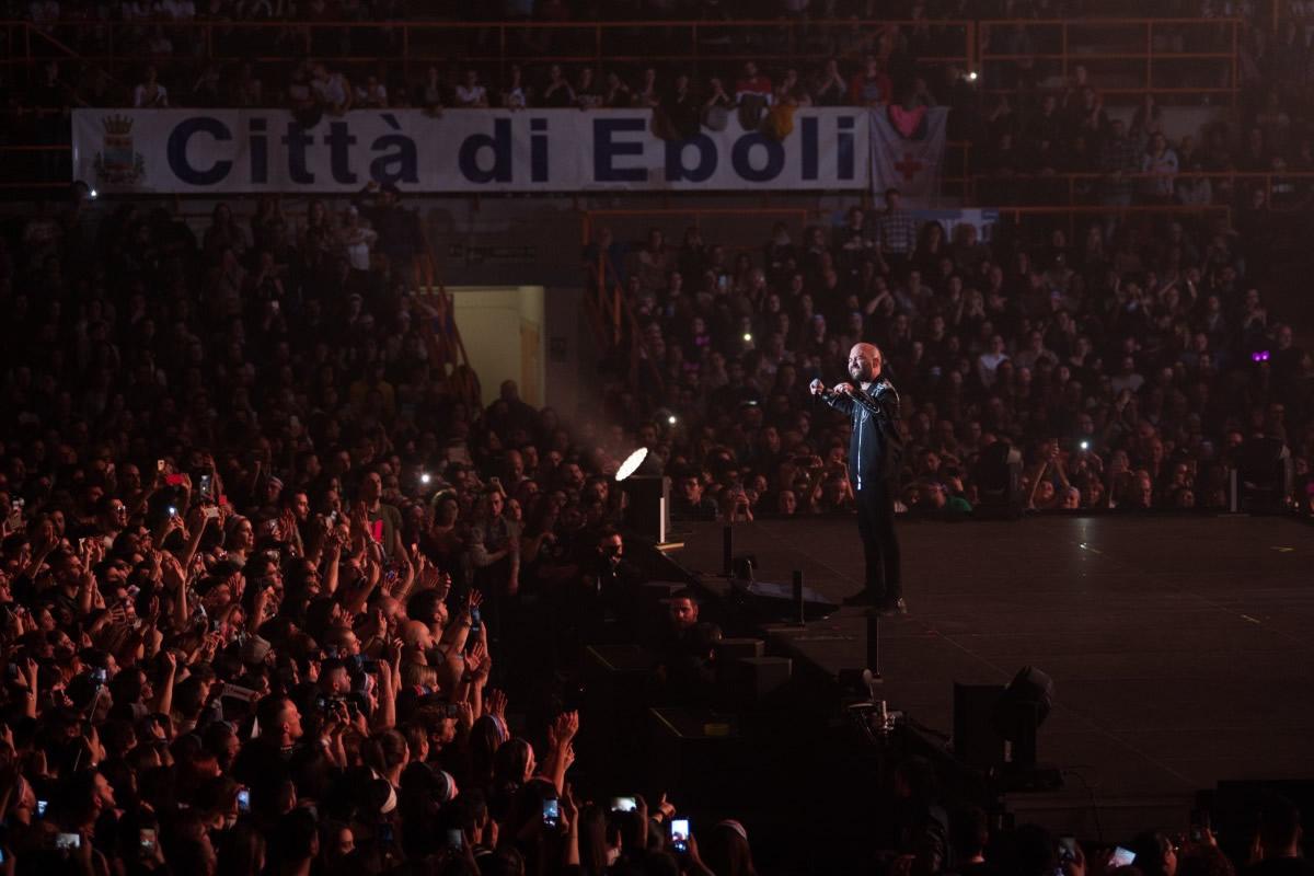 Negramaro in concerto al Palasele di Eboli. Foto di Alfonso Maria Salsano