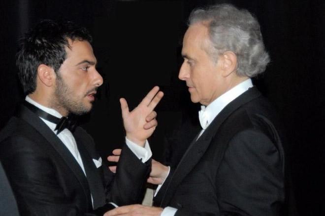 Piero Mazzocchetti con Josè Carreras. Foto fornite dall'intervistato