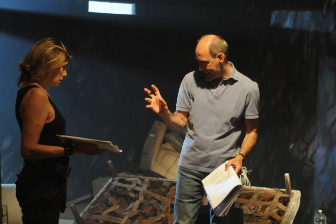 Claudio Lattanzi sul set di Everybloody's End